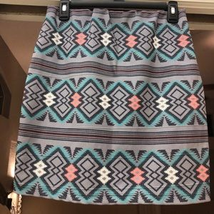 Xhilaration short skirt stretch tight Aztec